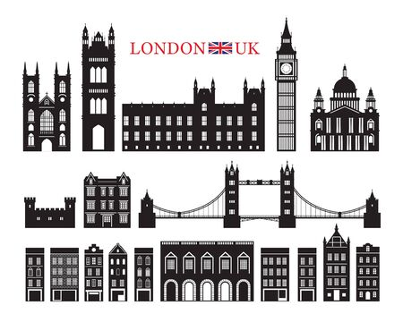 England and United Kingdom Building Landmarks Silhouette, Famous Place, Travel and Tourist Attraction