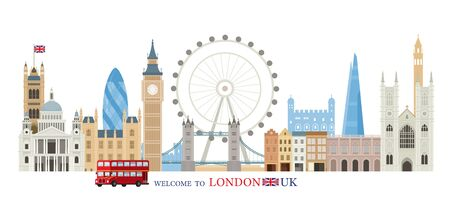 England and United Kingdom Landmarks Skyline, Famous Place, Travel and Tourist Attraction