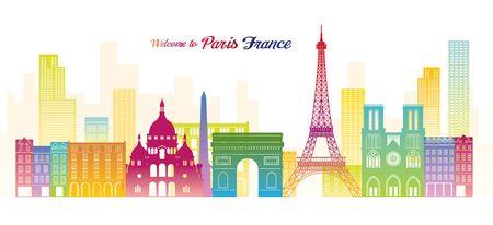 Paris, France Landmarks Skyline, Colourful Colour, Famous Place, Travel and Tourist Attraction