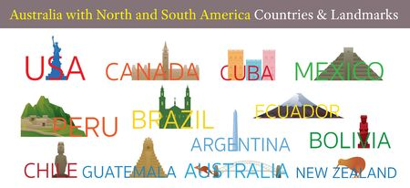 America Continent and Australia Countries Landmarks, Famous Place, Buildings, Travel and Tourist Attraction