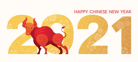 Year of the Ox, Chinese New Year 2021, Zodiac, Holiday, Greeting and Celebration