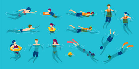 People Swimming and Diving in the Sea or Pool, Travel, Summer Vacation and Activities