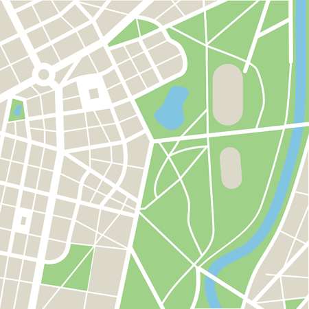 abstract city: abstract city map Illustration