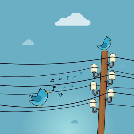 sings: Blue bird sings