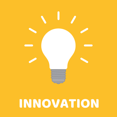 A creative bulb with text innovation. Illustration