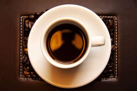caffeine molecule: coffee cup Stock Photo