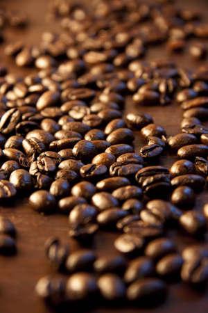 caffeine molecule: coffee beans