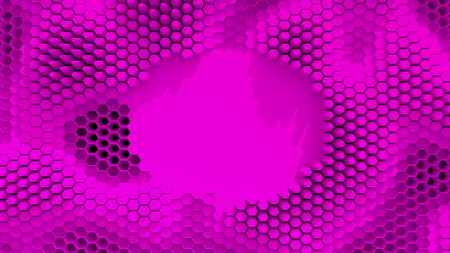 Abstract purple crystallized background. Honeycombs move like an ocean. With place for text or logo. Banco de Imagens