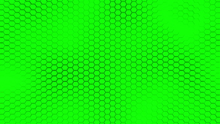 Beautiful green hexagrid background with soft sea waves.