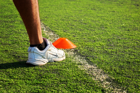 Chonburi , Thailand - March 4 , 2019:  Product shoot of Nike men's running shoe on grass. Editorial