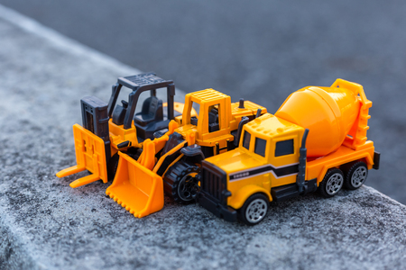 toys transport construction on the ground. Site construction concept.