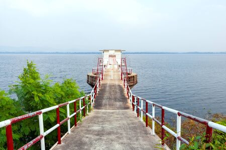 The Water gate at reservoir.