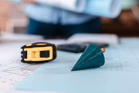 Tool of engineer and architecture for drawing and planing on the table.