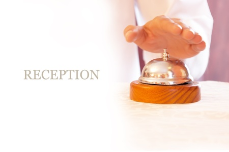 Reception  Service bell and hand  photo