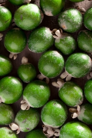 feijoa: Feijoa (Pineapple Guava) background.