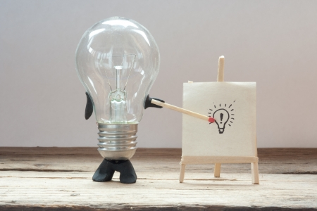 Ð¡oncept  idea. light bulb idea. Stock Photo