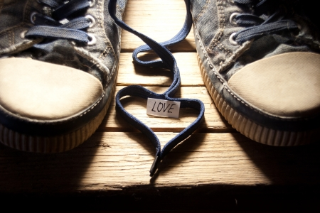 Sneakers With Lovely Heart photo