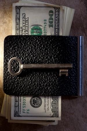 Key to Financial Success. Money, key. photo