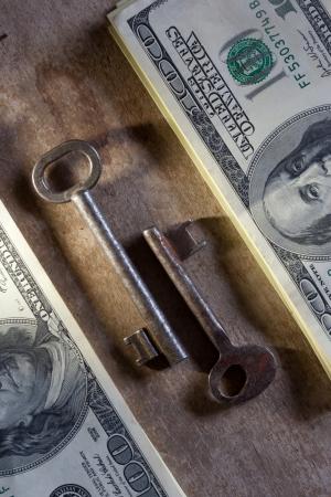 Key to Financial Success. Money, keys. photo