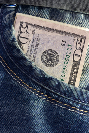 US dollar in the Jeans Pocket photo