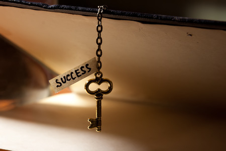 Golden key to success photo
