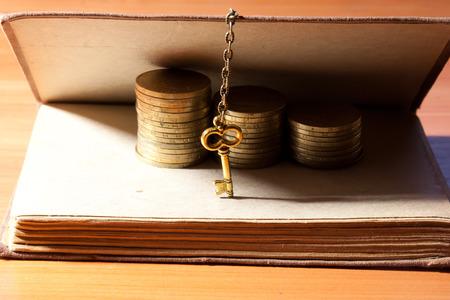 Key to money Stock Photo