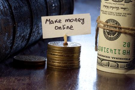 make money online concept photo