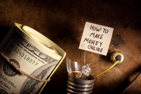 How to make money online concept Stock Photo