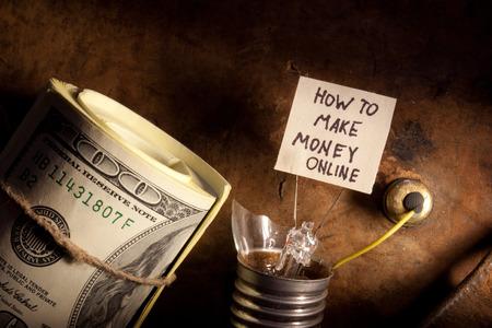 How to make money online concept Stock fotó