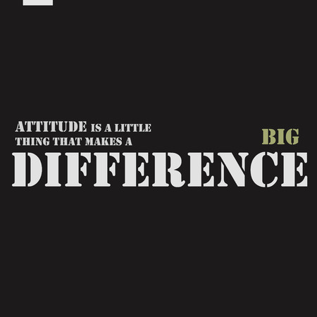 attitude: Attitude is a little thing that makes a big difference. Motivational inspirational quote poster.