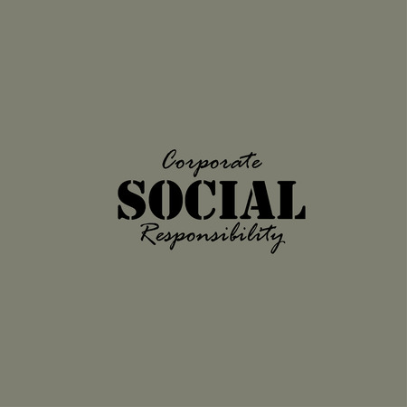 responsibilities: Corporate Social Responsibility. Illustration template for the card or poster.