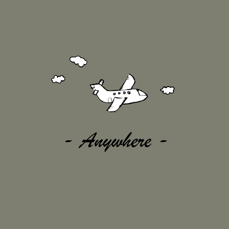 anywhere: Anywhere.  Illustration template for the card or poster.