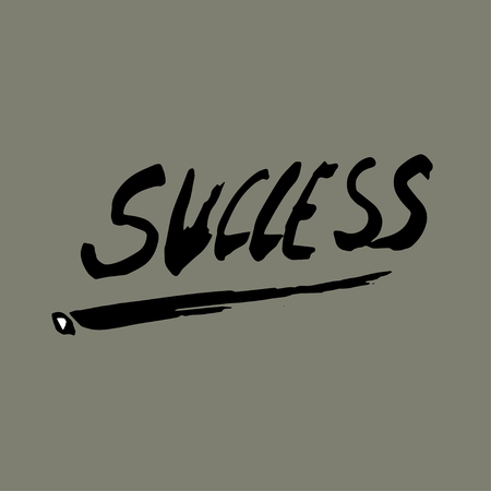 Success lettering modern calligraphy style. Vector illustration.