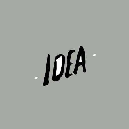 idea,  hand drawn design text, concept of idea Ilustração