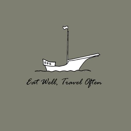 Eat Well, Travel Often Inspirational motivational quote. Ilustração