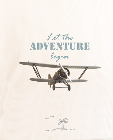 Let the adventure begin inscription and plane