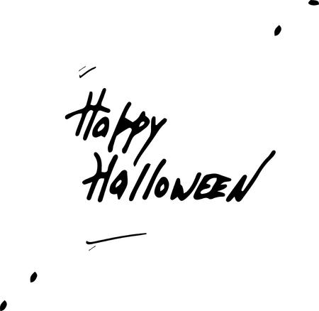 Happy Halloween Text Banner. Handmade vector lettering.