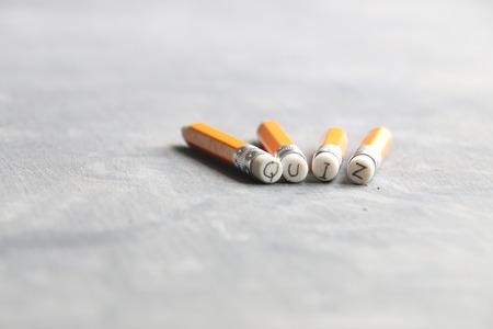 Quiz concept, inscription on a yellow pencil