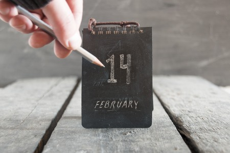 14: date of February 14, Valentines day idea