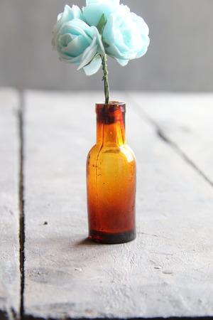 colored bottle: flowers in a bottle
