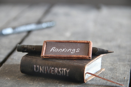 university rankings idea, vintage composition
