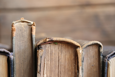 vintage books, soft focus