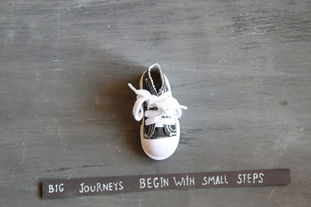 Big journeys begin with small steps, vintage style