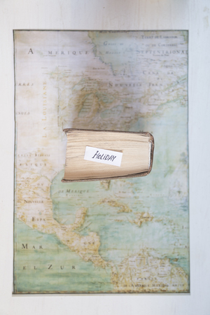 Holiday, Travel or Vacation idea. Map created by Claude Bernou, published in 1681.