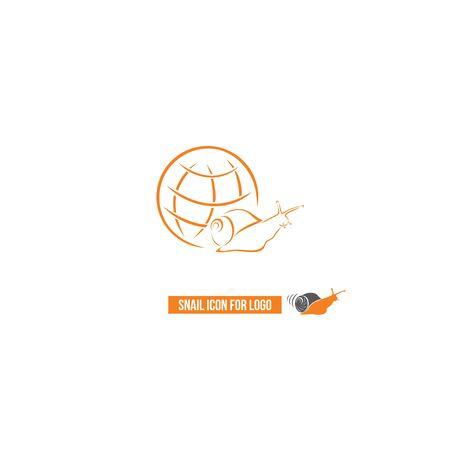 Icon of a snail, globe. 일러스트