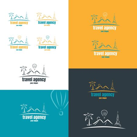 Travel company logo in the style of brush strokes.