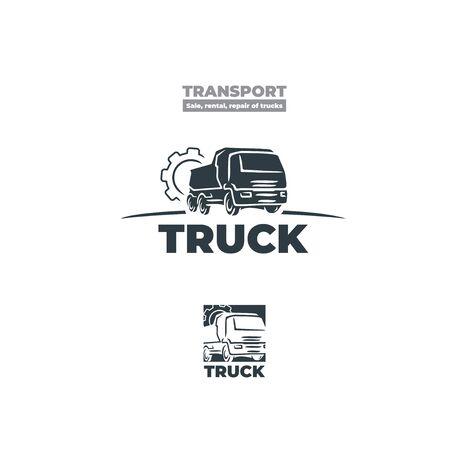 Icon of a truck similar to Kamaz. Gear. Ilustração