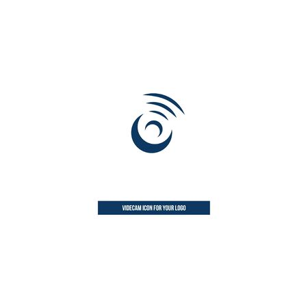 Webcam icon in the style of brush strokes for the logo.
