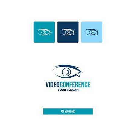 Eye, webcam in the style of brush strokes for the logo. Ilustração