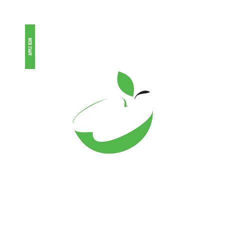 Green apple icon for a company logo.